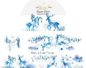 1 Roll of Limited Edition Washi Tape- Snow Deer