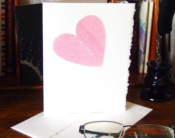 Washed Post-it Heart - Handmade Card