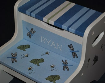 Kids Personalized 2 Step Stool  He's Bugging Me