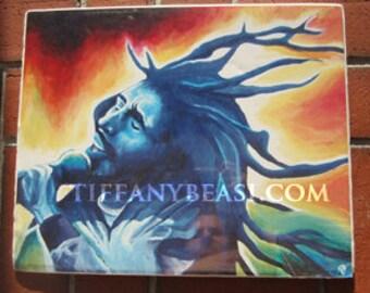 Bob Marley print 11x14 signed by Tiffany Beasi