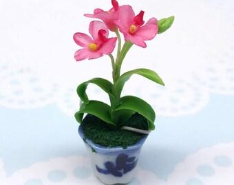 Miniature Flower,Miniature Flower Pot,Miniature Vase,Dollhouse Flower,Miniature Garden,Dollhouse Flower Pot,Miniature Orchid,Orchid