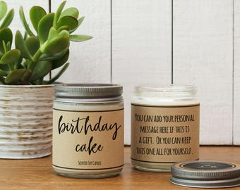 Birthday Cake Scented Candle - 8 oz | Candle Gift | Unique Scented Candle | Candle Handmade | Soy Candle | Personalized Candle