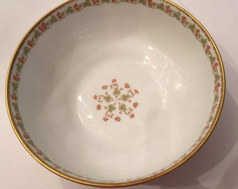 Vintage Haviland Limoges Bowl with Shamrocks
