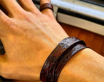 Flutterby Leather Multiwrap Bracelet