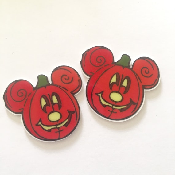 Laser Cut Supplies- 2 Pieces. 45mm Halloween Mouse Charms - Laser Cut Acrylic - Jewelry Supplies-Little Laser Lab.Online Laser Cutting
