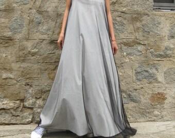 Maxi dress, Black White dress, Black maxi dress, Summer dress, Layered dress, Plus size dress, Long dress, Sun dress, Oversized dress