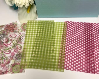 2 Set of Paisley Vellum Sheets for Ringbound Planner