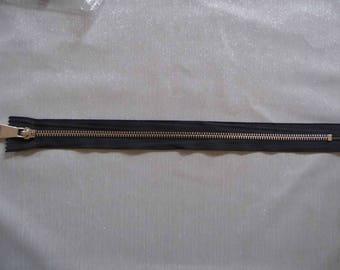 Black and gold zipper 40 cm SKU 9006