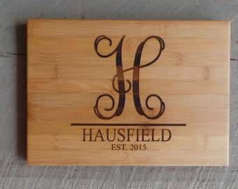 Personalized Cutting Board - Engraved Bamboo Cutting Board - Customized Wooden Cutting Board
