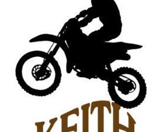 Dirt Bike Decal Etsy - Vinyl stickers for bikes