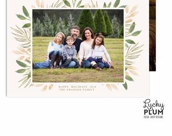 Christmas Photo Card / Holiday Photo Card / Modern Holiday Card / Printable Holiday Card / Christmas Card / Holiday Card
