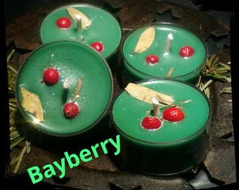 Yule Christmas Bayberry Tealight candles