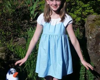 Elsa Dress - Frozen Inspired Dress - Cotton Play Dress - Girls Elsa Costume - Elsa Ice Dress - Elsa Frozen Dress - Elsa Disneybound