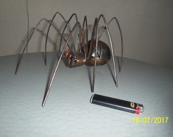 "Figurine ""spider"" of metal art-beautiful podarkok for any holiday. Decorate the Interior of your home or Office. (Hand Made)"