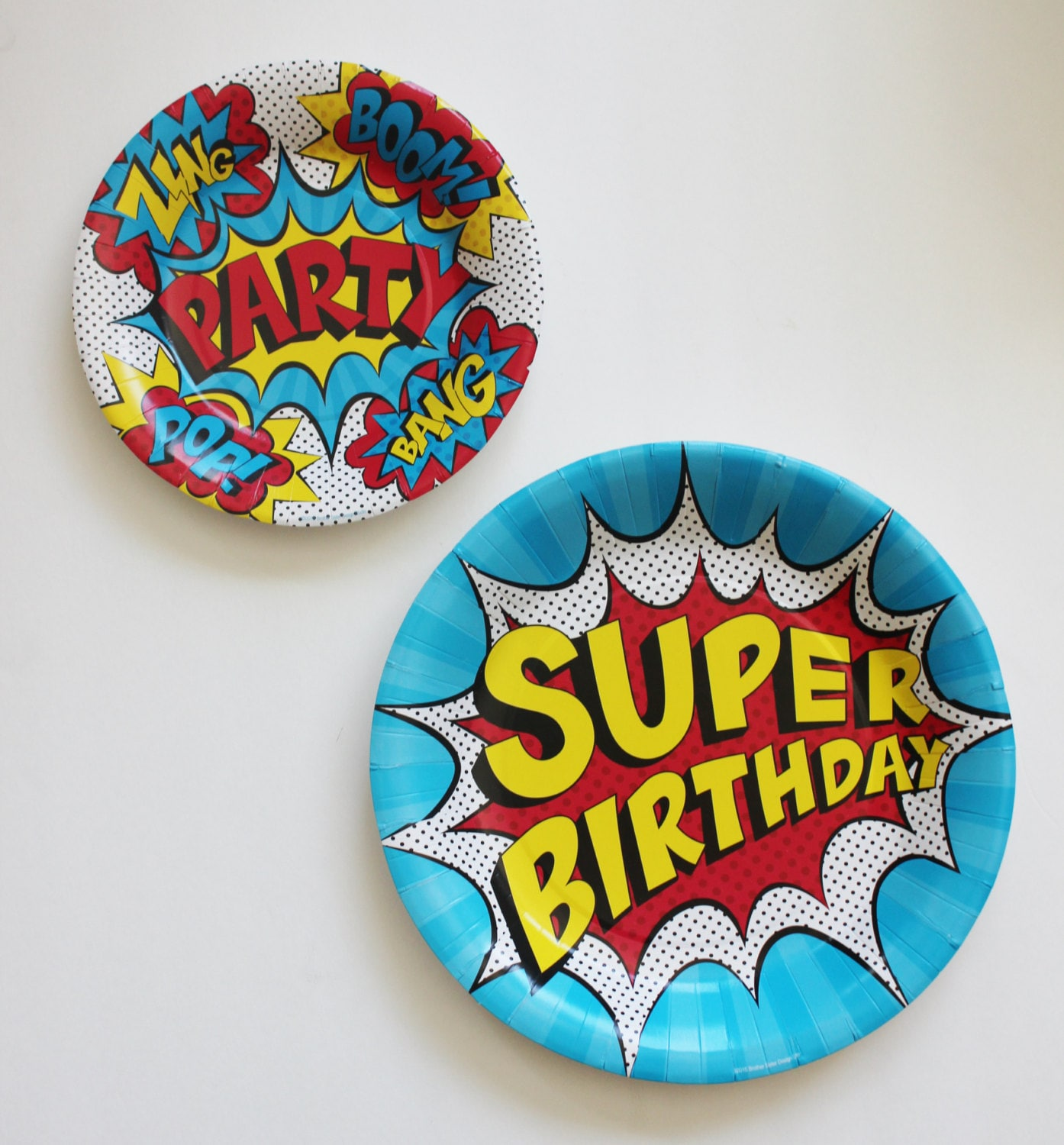 🔎zoom  sc 1 st  Etsy & 50 SUPERHERO PARTY PLATES Birthday Paper Plate Super Hero
