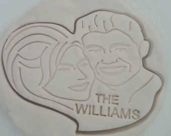 Custom Cookie Cutter, Personalized cookie cutter, Portrait cookie cutter,  face cookie cutter, Weddings, Anniversary, Graduation, Birthday