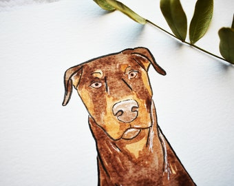 CUSTOM Pet Portrait, Pet Watercolor, pet illustration, cartoon pet, watercolor, pet, portrait, animal portrait, animal illustration