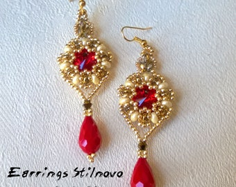 Earrings Stilnovo  (Tutorial graphics pictures in italiano and English)