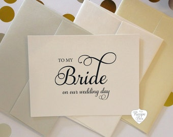 To My Groom card, To My Bride, on our wedding day, Wedding Day Card, Greeting Card, Card to Bride, Card To Groom, Card Bride, Groom Gift