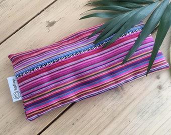 Eye pillow mexican for yoga and meditation with lavender and flaxseed, lavender eye pillow, eye mask, aromatherapy eye pillow