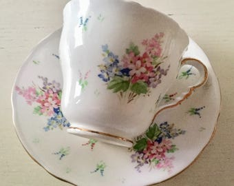 Vintage Royal Stafford bone China teacup and saucer