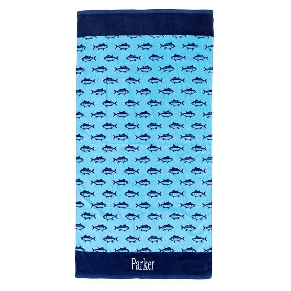 Beach Towel in Blue Finn
