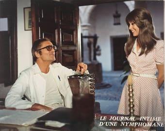 Set of 2 French lobbycards Le journal intime d'une nymphomane Dir Jess Franco 1973