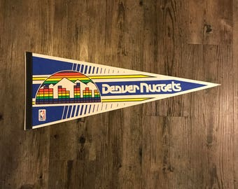 Vintage Denver Nuggets Pennant
