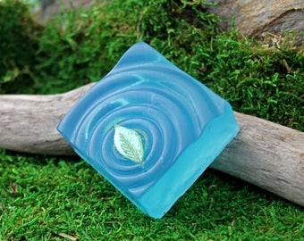 Water soap - handcrafted olive oil soap - water ripple