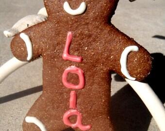 Gourmet Dog Treats - Personalized Gingerbread Man - Organic Dog Treats All Natural Vegetarian - - Shorty's Gourmet Treats