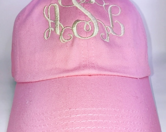 Monogrammed Baseball Cap Ladies Monogram Cap Monogrammed Cap Personalized Cap Sorority Cap Bridesmaid Cap Gift for Her Gift for Mom Gift