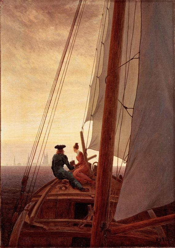 Caspar David Friedrich: en un velero. Fino arte