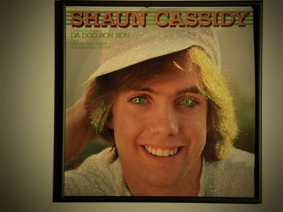 Glittered Record Album - Shaun Cassidy - Da Doo Ron Ron