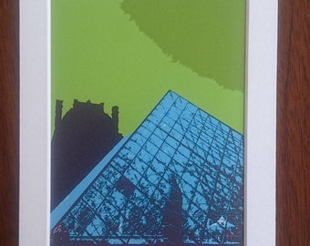 The Louvre digital print
