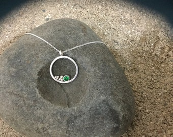 Handmade sterling silver Swarovski crystal necklace