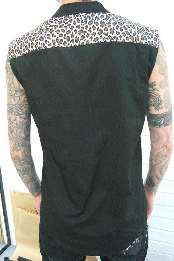 Rocker sleeveless shirt Supernal Clothing menswear goth gothic punk rockabilly psychobilly mens alternative clubwear costume western surf XrlcPtl8f