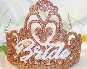 Bridal Shower Crown - Bride Party Crown - Bachelorette Party Crown - Engagement Party Tiara - Bride To Be Crown - Hen Party Crown