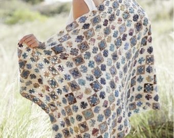Wool Blanket Rocky Path Crochet