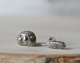 PETITE FILLE Handmade Jewelry mini collection Gray Parrot Sterling Silver