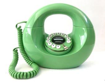 Berliner Telefon, Mid Century Retro Telefon, grüne Retro Telefon