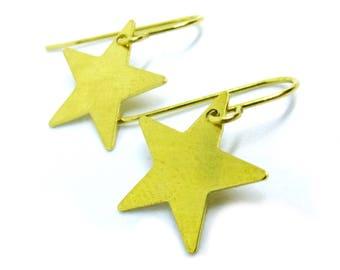 Star Brass Filigree Earrings