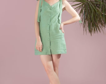 Virginie Linen Dress