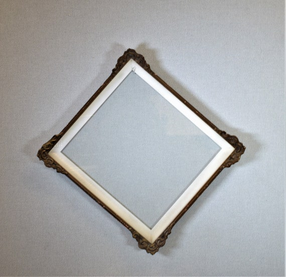 14x16 Frame Approx. Size Vintage Gold Ornate Wood with Glass