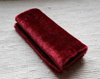 Fur fabric (for plush toys, dolls, pillows) burgundy.