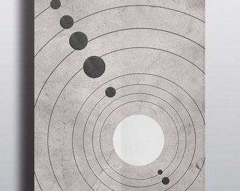 Science Poster Solar System Minimalist Home Decor Wall Art Print