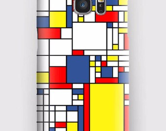Case for Samsung S5, S6, S6 and S7, S7 + S8 S8 + A3, A5, J3, GP Note 4,5, 8, Mondrian multi