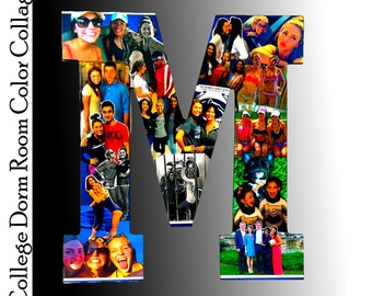 College Bound, College Dorm Room,  Photo Collage, Photomontage, Photo Gift,  Wall Decor, Professional Custom Photo Gift