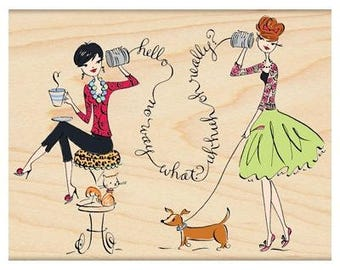 Penny Black Tete-a-tete Rubber Stamp