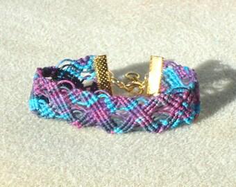 Macrame  bracelet, micro macrame, knotted jewelry, boho jewelry,  tribal, hippie, chic