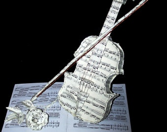 Custom Music Book Sculpture--paper sculpture made out of your favorite music books